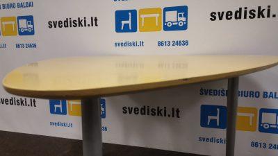 Švediški.lt Lammhults Beržo Staliukas Su Metalinėmis Kojomis, Švedija