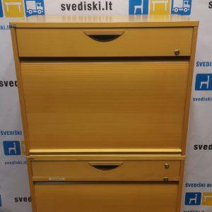 Svediski.lt EFG Buko Spinta Spintelė Su 2 Stalčiais Ir 2 Uždaromomis Dalimis, Švedija