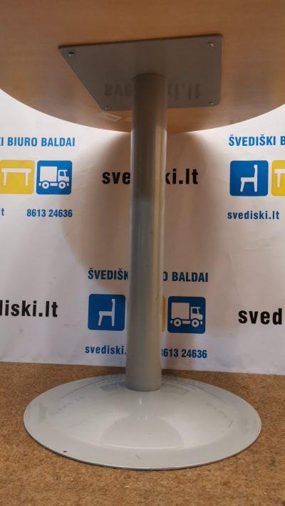 Svediski.lt Klevo Apvalus Stalas Su Viena Koja, Švedija
