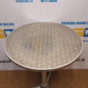 Svediski.lt Aliuminio Apvalus Stalas Ant Vienos Kojos, Švedija