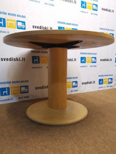 Svediski.lt Ąžuolo Apvalus Stalas Ant Vienos Kojos, Švedija
