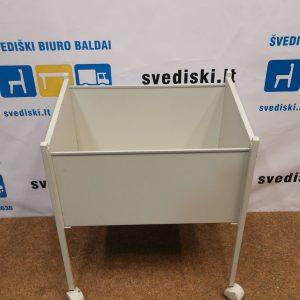 Svedija.lt Balta Metalinė Dėžė Su Ratukais, Švedija