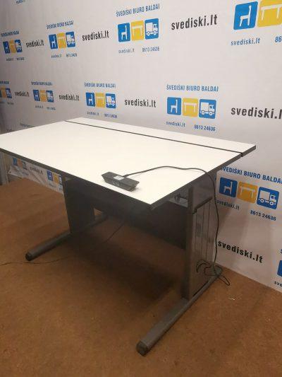 svediski.lt EFG Elektra Reguliuojamo Stalo Mechanizmas Su Sa Mobler 140x80cm Stalviršiumi, Švedija