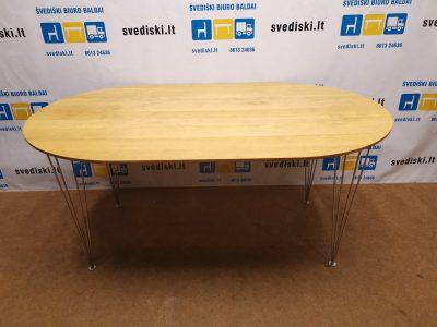 svediski.lt Ąžuolo Ovalus Šešių Vietų Stalas, Švedija
