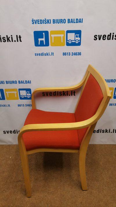 svediski.lt Raudona Lankytojo Kėdė Su Buko Rėmu, Švedija