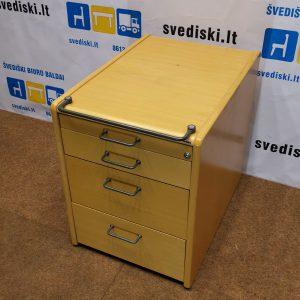 Martela Buko Stalčių Blokas Su 4 Stalčiais Be Ratukų, Švedija