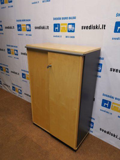 svediski.lt Kinnarps Beržo Rakinama Spintelė Su Antracito Spalvos Šonais, Švedija