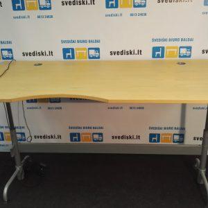 Swedstyle Elektra Reguliuojamas Stalas Su Atmintimi Ir Uosio Stalviršiu 220x100 cm, Švedija