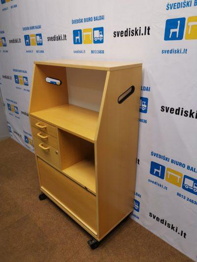Edsbyn Buko Spintelė Su 3 Stalčiais Ir Nugaroje Rašomąja Dalimi, Švedija