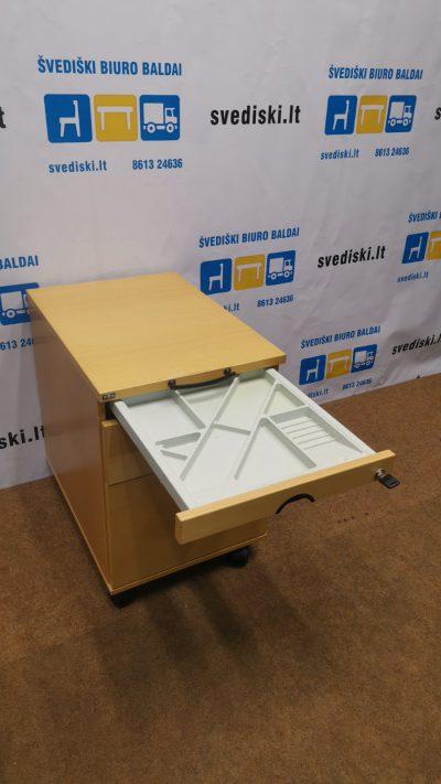 EFG Buko Stalčių Blokas Su 3 Stalčiais Ir Ratukais, Švedija
