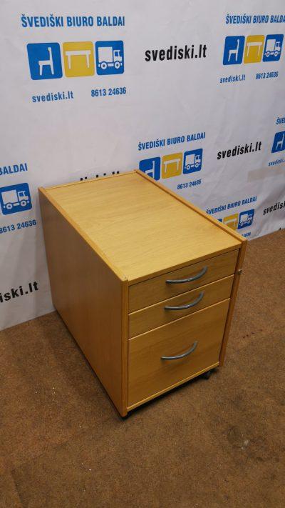 Ikea Ąžuolo Stalčių Blokas Su Ratukais, Švedija