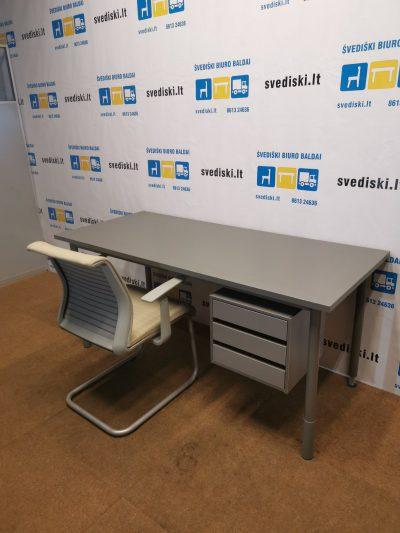 Antracito Reguliuojamo Aukščio Stalas Su 3 Stalčių Dėžute, Švedija