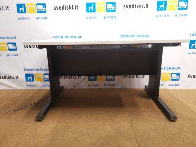 EFG Elektra Reguliuojamas Juodo Stalo Rėmas Su Baltu 120x80 cm Stalviršiu, Švedija