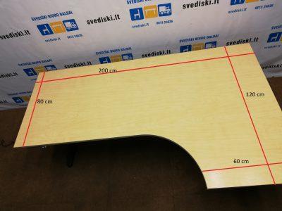 EFG Elektra Reguliuojamas Stalas Su Beržo Kampiniu 200x120 cm Stalviršiu, Švedija