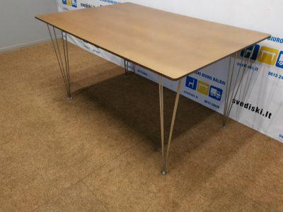 Beicuotas ąžuolo lukšto stalas iš MDF plokštės