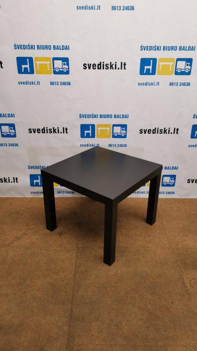 Ikea Lack Juodas Staliukas 45x45cm, Švedija