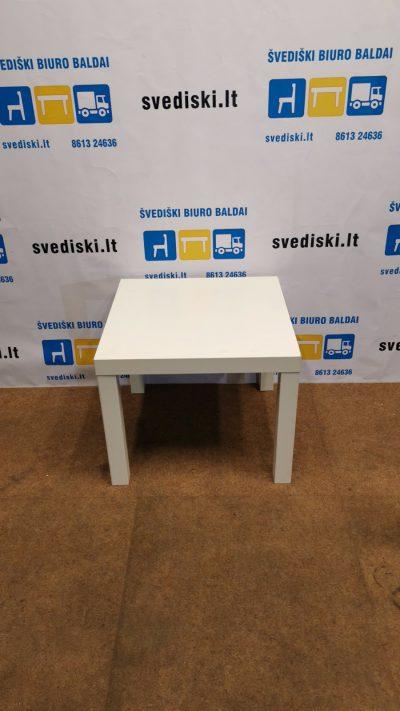 Ikea Lack Baltas Staliukas 55x55cm, Švedija