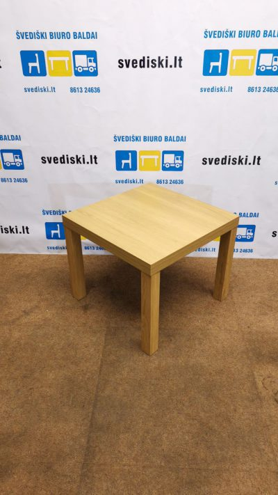 Ikea Lack Ąžuolo Staliukas 45x45cm, Švedija