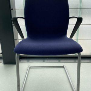 Drabert Mėlyna Lankytojo Kėdė Su Porankiais, Švedija