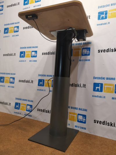 Martela Reguliuojamo Aukščio Stalas Su 60x70cm Baltu Stalviršiu, Švedija