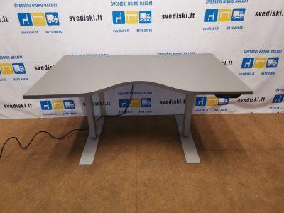LINAK Elektra Reguliuojamas Stalas Su Antracito Stalviršiu, Švedija