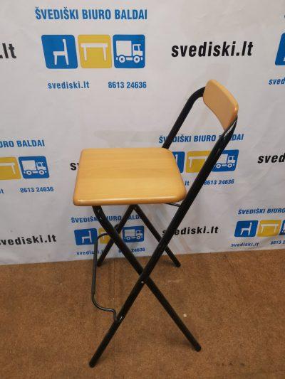 Natūralaus Buko Kėdė Su Juodu Rėmu, Švedija