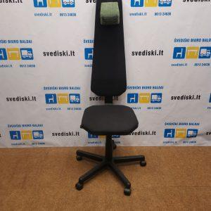 Edsbyn Ullmanstolen Juoda Ergonomiška Biuro Kėdė Su Aukšta Nugaros Atrama, Švedija