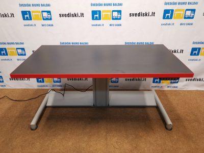 Swedstyle Elektra Reguliuojamas Stalas Su Nauju 139x70cm Juodu Stalviršiu, Švedija