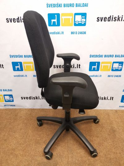 Ikea Verksam Juoda Biuro Kėdė Su Reguliuojamo Aukščio Porankiais, Švedija