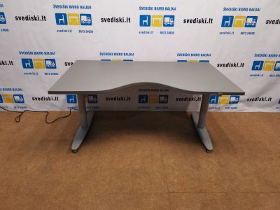 Kinnarps Elektra Reguliuojamas Stalas Iki 83cm Aukščio Su Antracito Stalviršiu, Švedija