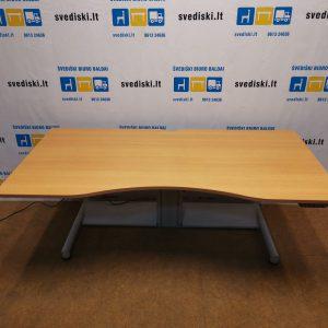 Swedstyle Elektra Reguliuojamas Stalas Su Buko 180x90cm Stalviršiu, Švedija