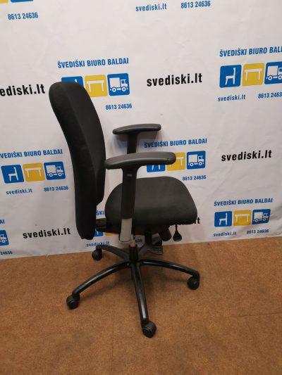 Markant Juoda Biuro Kėdė Su Reguliuojamais Porankiais, Švedija