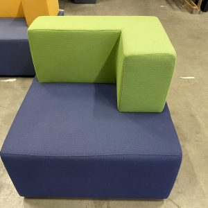 Design Fotelis Su Žalia Atrama Ir Mėlyna Sėdima Dalimi, Švedija