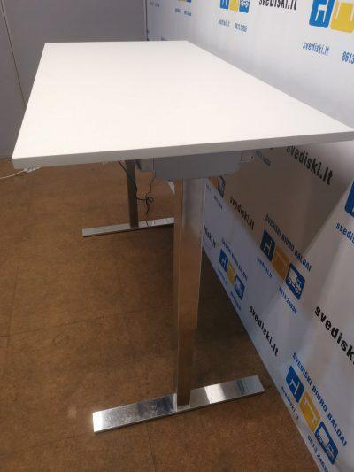 Linak Chromuotas Elektra Reguliuojamas Mechanizmas Su Baltu 160x80 Stalviršiu, Švedija