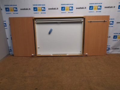 Audicom Magnetinė Lenta Ir Projektoriaus Ekranas Uždaromoje Spintelėje, Švedija