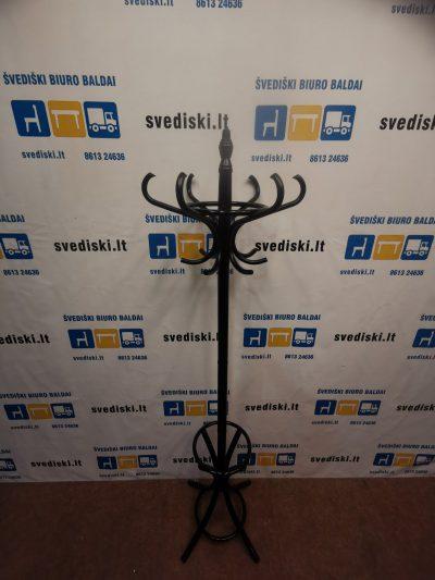 Juoda Rūbų Kabykla Su Skėčiu Laikikliu, Švedija