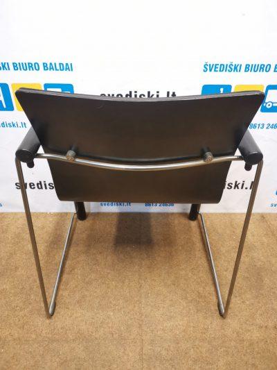 Thonet Kėdė Su Juodu Audiniu Ir Metaliniu Rėmu, Švedija