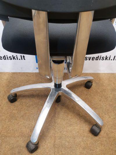 Drabert By Samas Juoda Ergonomiška Biuro Kėdė Su 3D Porankiais Ir Chromuota Žvaigžde, Švedija