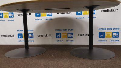 Ąžuolo Konferencinis Stalas Su Juodomis Kojomis, Švedija