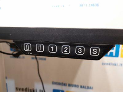 Swedstyle Elektra Reguliuojamas Stalas Su 140x62cm Baltu Stalviršiu, Švedija