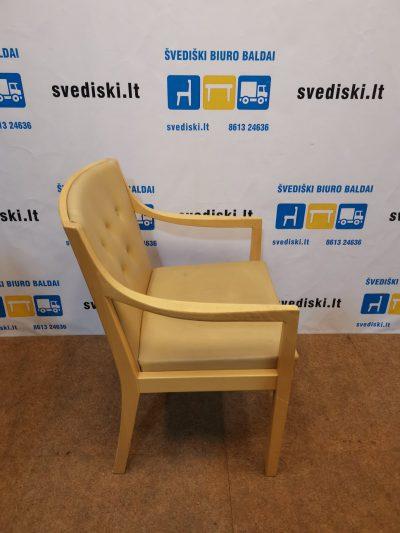 Smėlio Spalvos Natūralios Odos Fotelis, Švedija