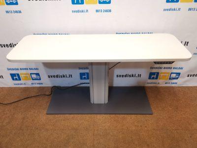 Swedstyle Elektra Reguliuojamas Stalas Su 140x45cm Baltu Stalviršiu Apvalintais Kampais, Švedija