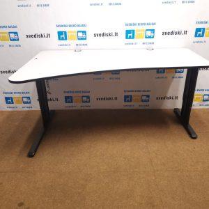 Rohde Mechaniškai Reguliuojamas Stalas Su Pilku 180x80cm Stalviršiu, Švedija