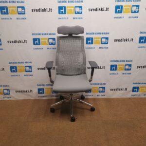 Pilka Ergonomiška Biuro Kėdė Pofit Su 5D Galvos Atrama Ir 3D Porankiais