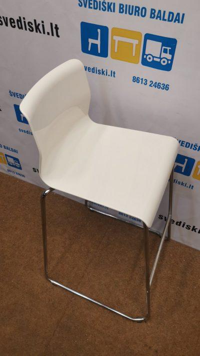 Ikea Glenn Balta Baro Kėdė Su Chromuotu Rėmu, Švedija