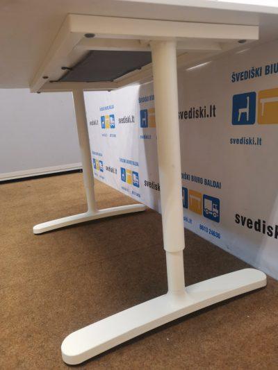 Ikea Galant Baltas Mechaniškai Reguliuojamas Stalas Su 120x60cm Stalviršiu, Švedija