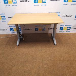 Ikea Galant Elektra Reguliuojamas Stalas Su LMDP 120x80cm Stalviršiu, Švedija
