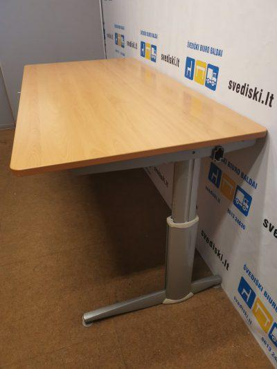 Mechaniškai Reguliuojamas Stalas Su Buko 180x90cm Stalviršiu, Švedija