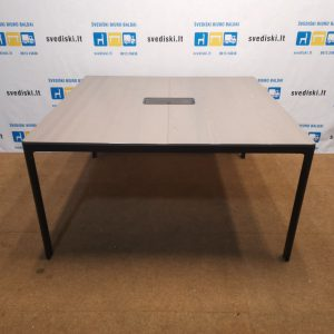 Ikea Bekant Konferencinis Stalas Su 140x140cm Stalviršiu, Švedija