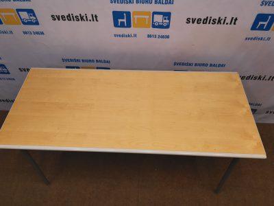 Lammhults Sulankstomas Stalas Su Beržo 140x60cm Stalviršiu , Švedija
